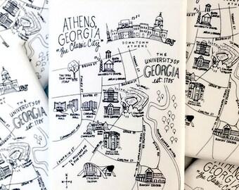 University of Georgia, Athens, Georgia Map Magnets