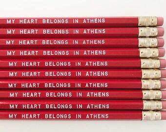 My Heart Belongs in Athens Pencils