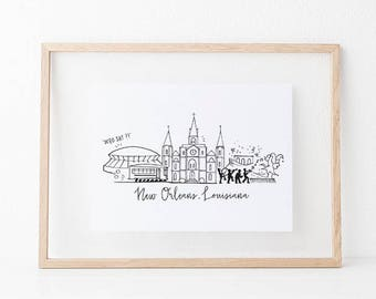 New Orleans, Louisiana Art Print