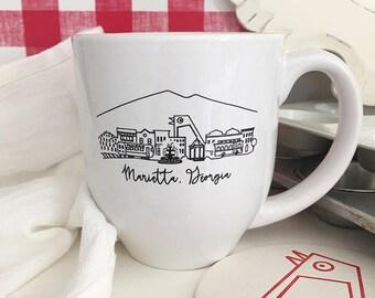 Marietta, Georgia Skyline Mug