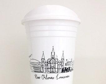 Reusable New Orleans, Louisiana City Skyline Party Go Cup
