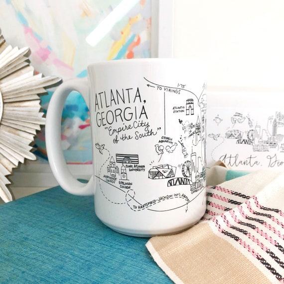 Atlanta Georgia Map Mug | Etsy