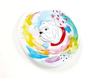 Bulldog Watercolor Magnet