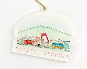 Marietta Acrylic Ornament