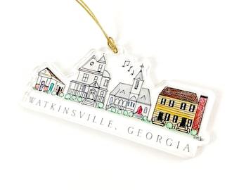 Watkinsville Acrylic Ornament