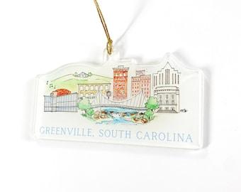 Greenville Acrylic Ornament