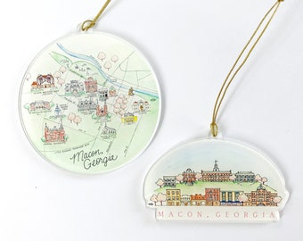 Macon Acrylic Ornaments