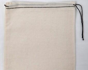 25 8 x 10 pouces coton mousseline Noire ourlet et sacs noir