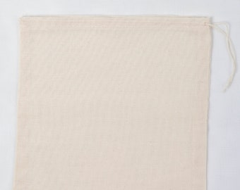 100 8x10 inch Cotton Muslin Drawstring Bags