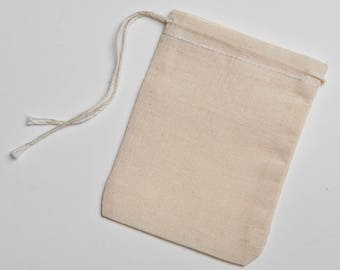 466cdacc61d5 ALL NATURAL COTTON MUSLIN DRAWSTRING BAGS by CelestialGifts