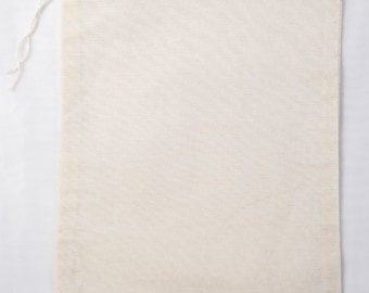 Made in the USA 6x8 inch Muslin Drawstring Bags