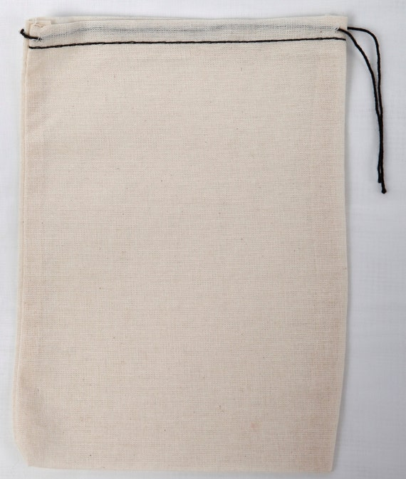 "4/""x6/"" Cotton Single Drawstring Muslin Bags SET OF 25 Black color"