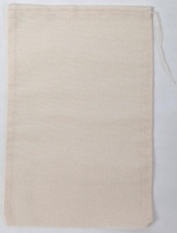 8476e017ac8e 100 count 8x12 inch Cotton Muslin Drawstring Bags