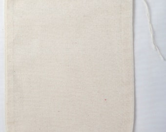 Made in the USA 5x7 inch Muslin Drawstring Bags