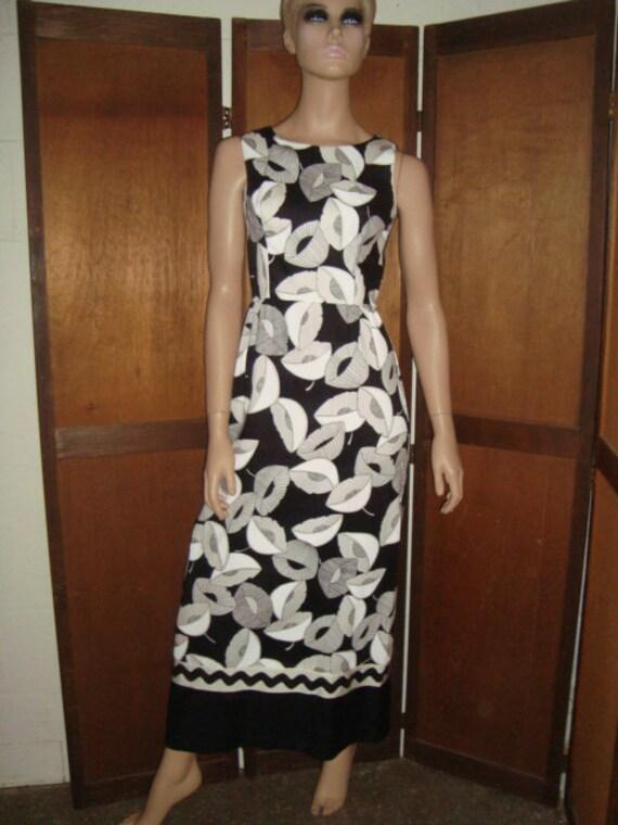 Op Art Maxi Dress Saba California