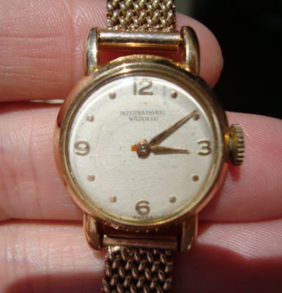 50's IWC Ladies Gold Watch International Watch Com