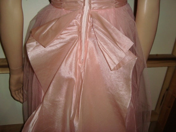 50's Pink Tulle Halter Top Dress with Jacket - image 5