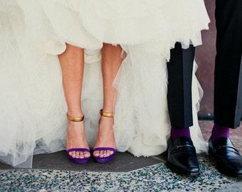 David's Bridal match PLUM  specialty color Grooms socks
