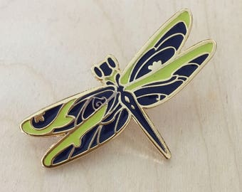 Floral Dragonfly - Enamel Pin