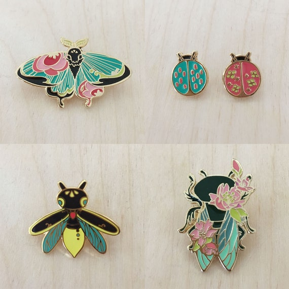 personalize your stuff brooch glow in the dark butt Firefly hard enamel pin bling bling rose gold metal