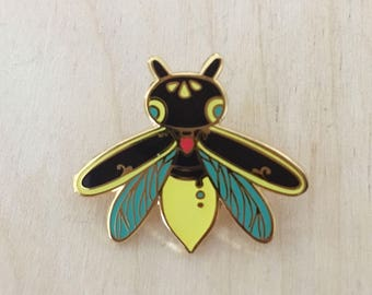 Glow in the dark Firefly - Enamel Pin