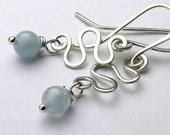 Natural Aquamarine Earrin...