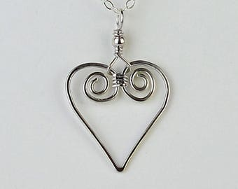 bc0b4a229d084 Celtic Spiral Necklace Wire Wrapped Jewelry Handmade with