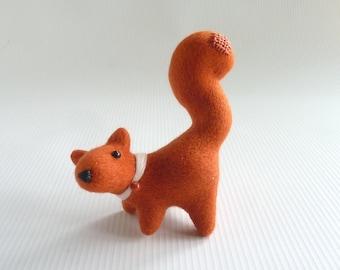 Needle felted squirrel 'Rosie'  by Gretel Parker, red squirrel, needle felt squirrel, miniature squirrel, British squirrel