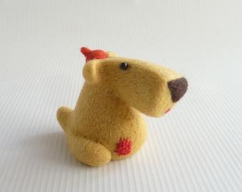 Needle felted doglet 'Samuel' by Gretel Parker, needle felted dog, miniature dog, doglet, soft sculpture dog, dog lover gift, wool dog