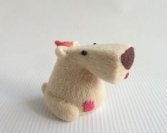 Needle felted doglet 'Nellie' by Gretel Parker, needle felted dog, miniature dog, doglet, soft sculpture dog, dog lover gift, wool dog