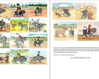 Equestrian POOH, Eeyore, Tigger, Piglet Choose 5 from 17 poses SALE