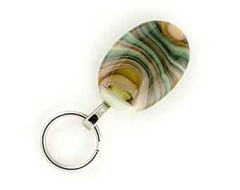 Magnetic Badge Holder and Magnetic Eyeglass Holder cream, brown and green