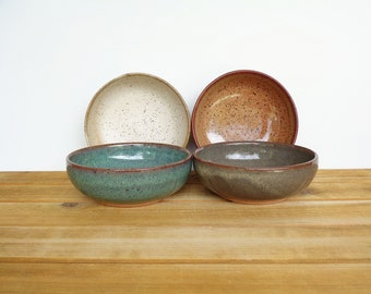 Prep Bowls, Stoneware Ceramic, Pottery Snack Bowls, Instant Collection in Four Glazes