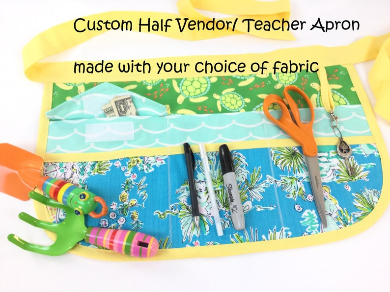 Custom Sassy Half Vendor/ Teacher Apron made with your choice image 0