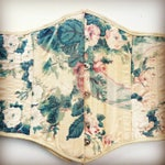 Adorable Handmade Steel Boned Underbust Corset in Victorian Pink Green and  Cream Floral Fabric perfect for Spring