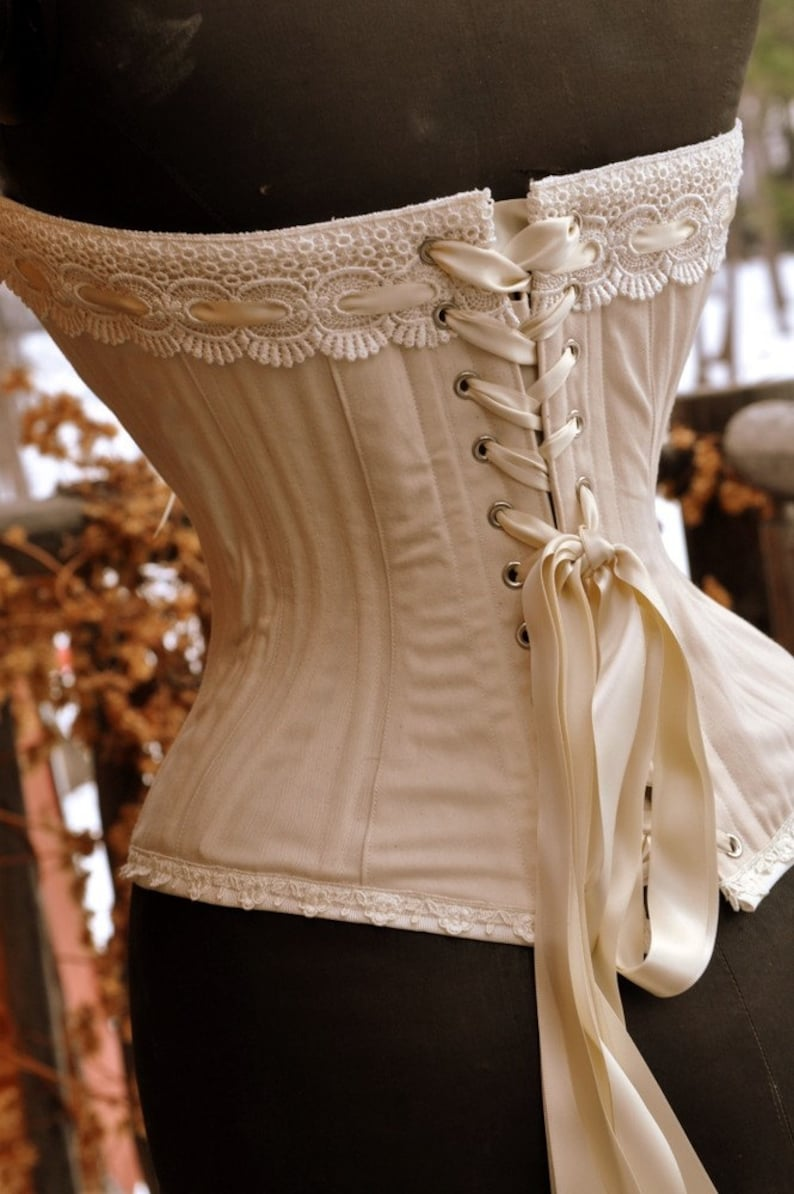 Rustic Wedding Overbust Corset perfect for Steampunk Wedding image 0
