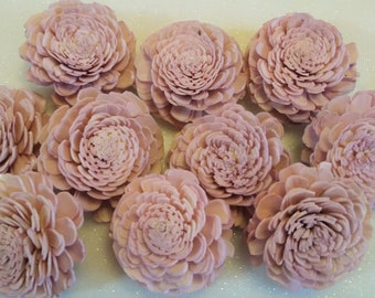 Set of 10  Sola Wood Flowers  2 size Mint  Painted  Wedding Flowers  Home Decor  Flowers  Crafts  Floral Bouquet Sola Wood Bali