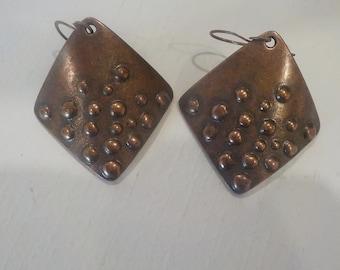 Solid Copper Boho Earrings
