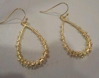 """18K Gold-Plated """"Bubbles"""" Teardrop Earrings"""