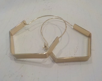 Large Gold Contemporary Hoop Earrings