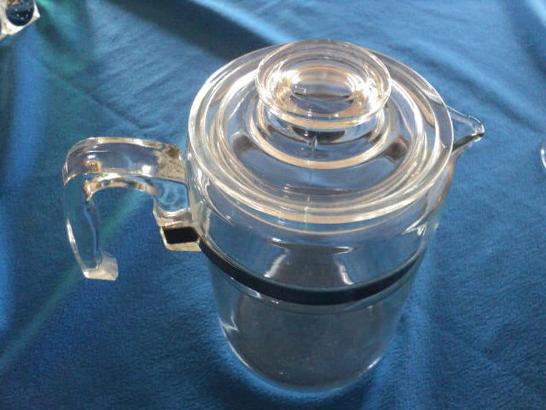 Vintage Pyrex 7826B Nine Cup Stove Top Percolator Coffee Pot