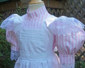 Samantha's  Birthday Dress / Girls size Victorian dress ..(Please check lead time before ordering)