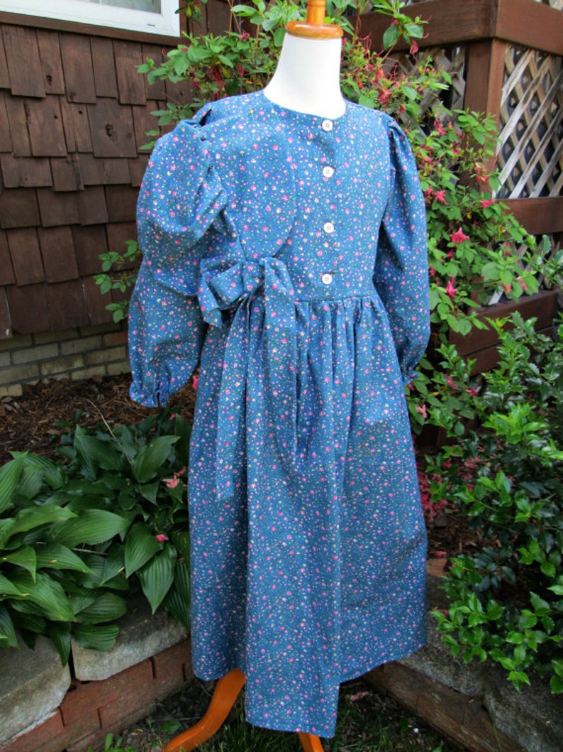 Please read full details inside of ad Girls Pioneer Prairie  Dress /& Bonnet ..