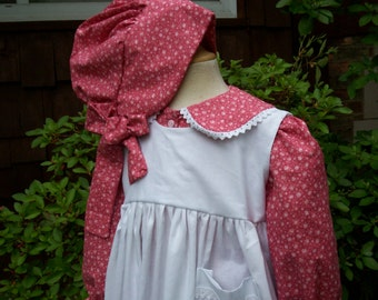 Girls Laura Ingalls Pioneer  dress/Little House Prairie..Front buttoned ....PLEASE read full details inside ad