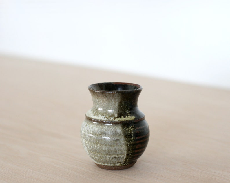 Vintage Small Bud Vase in Earthy image 0