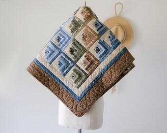 "Vintage Handmade Lap Quilt/40"" x 44"""