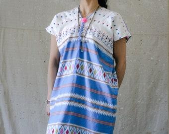 Vintage Woven Huipil/Traditional Handmade/Ecuadorian