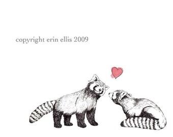 Red Panda 8x10 Print