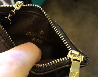6b0f5d9e0ae5c Upcycled Louis Vuitton Coin Purse