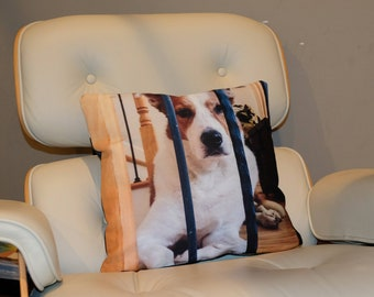 Sample personalized photo throw pillow cover gift custom photo cushion cover gift, grandparents Mother's Day Father's Day birthday holiday